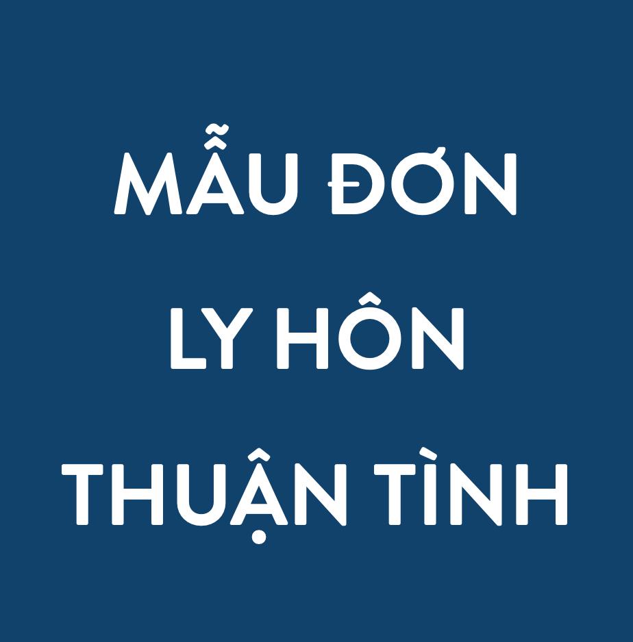 MAU DON LY HON THUAN TINH