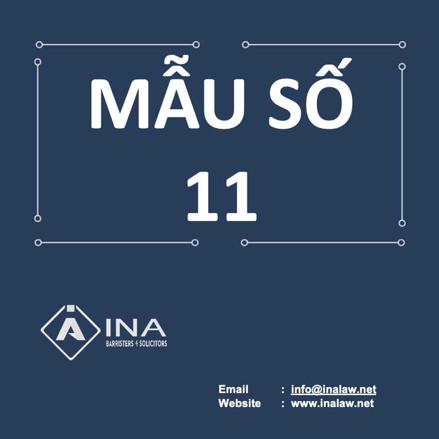 MAU SO 11